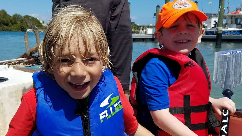 Child enjoying summer camp at Jupiter Outdoor Center in Jupiter, Florida