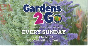 Garden Greens Market is from 9 a.m. – noon on Sunday at Palm Beach Gardens