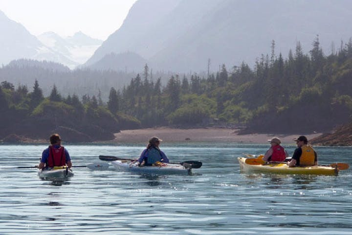 kayakers in open water