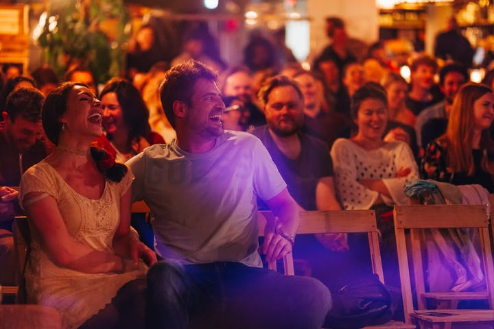 Audience enjoying Comedy show
