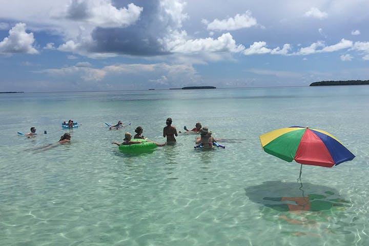 People having fun in water