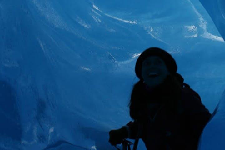 In a glacier in Tunsbergdalsvatnet