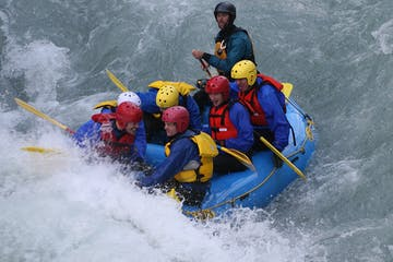 People doing rafting in Norway