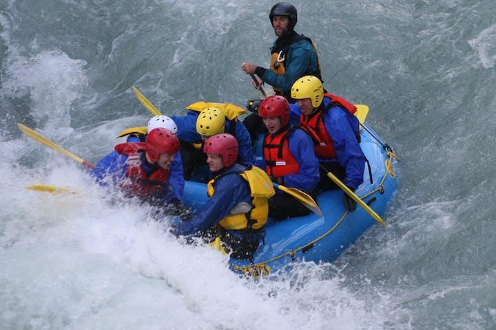 People doing rafting in Norway