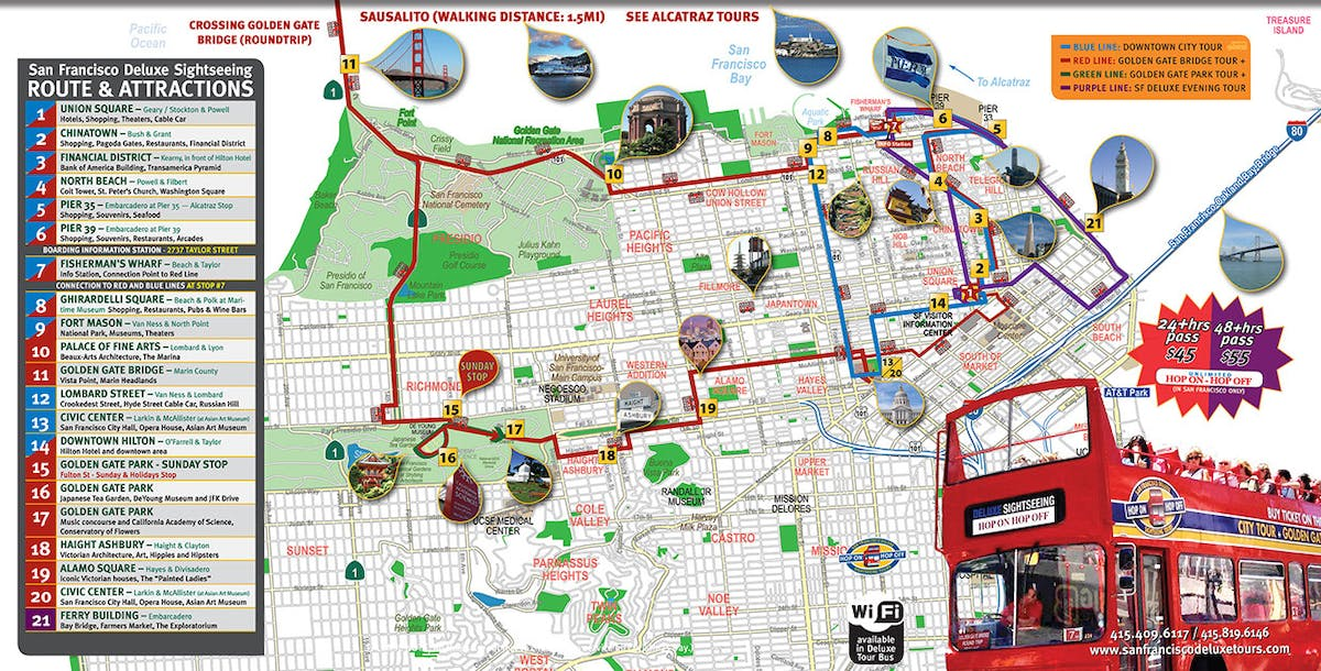 Routes & Attractions | San Francisco Deluxe Tours on hawaii route map, chicago route map, kentucky route map, pennsylvania route map, florida route map, sf transit map, new england route map, long island route map, california route map, seattle route map, city route map, maryland route map, caltrain route map, sf bus route map, lisbon route map, houston route map, nyc route map, south carolina route map, foothill transit 187 route map, slaves triangular trade route map,