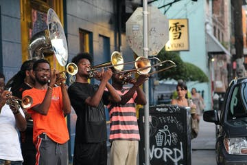 Band playing on the streets of New Orleans