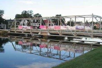 A bridge over a small river in Louisiana