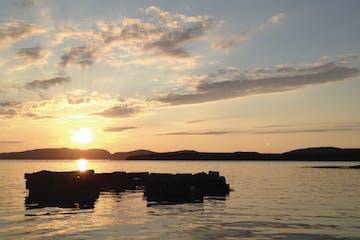 Sunset over Atlantic Ocean near Northeast Harbor, Maine