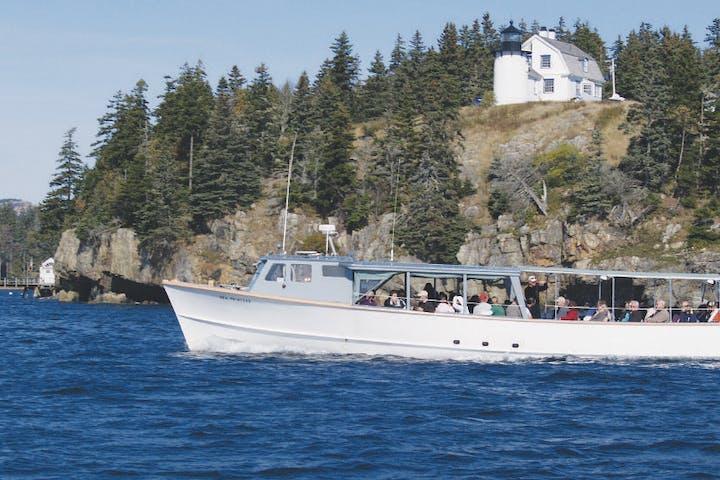 The Sea Princess cruising the Atlantic Ocean near Northeast Harbor, Maine