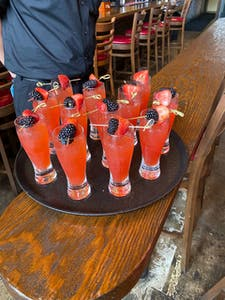Show cocktails on actual food drink pairing tour in Galveston TX