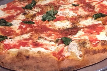 close up of Julianas Pizza
