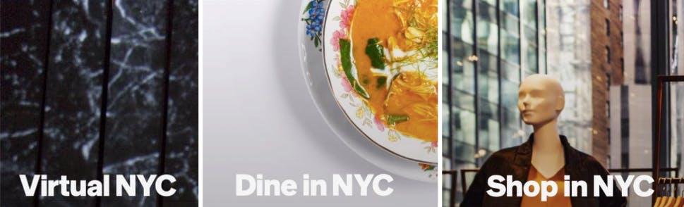 shop dine virtual NYC
