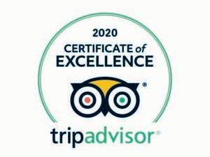 2019 TripAdvisor Certificate of Excellence badge