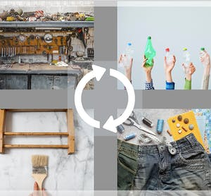 images of recycling and upcycling