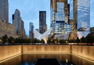 world trade memorial pool with oculus