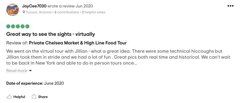 a screenshot of a tripadvisor review