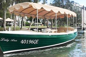 Luxury electric boat rental in noosa