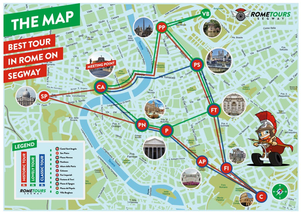 Segway Tours mappa