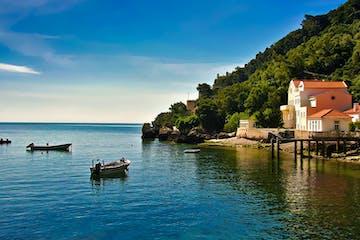 Arrabida Coastline and Boats