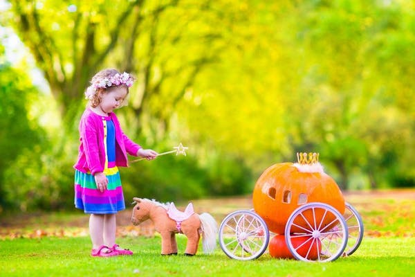 Little girl playing Cinderella