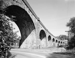 an old photo of a bridge