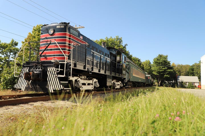 the front of the downeast train