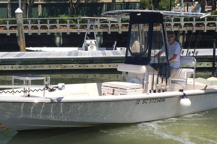 Fish-on boat