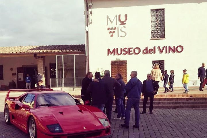 Ferrari parked outside MUVIS museum