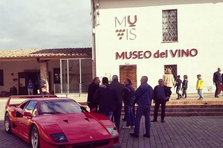 Ferrari parked outside MUVIS museum