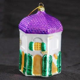 Garconierre Ornament with Purple Roof