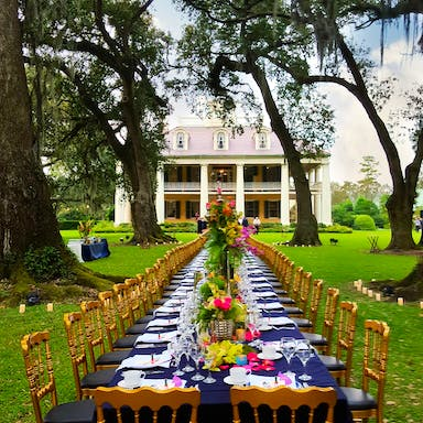 Front lawn dinner