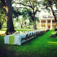 Front lawn wedding dinner
