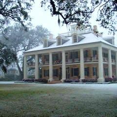 Houmas Mansion in Snow