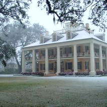 Houmas Mansion in Snow