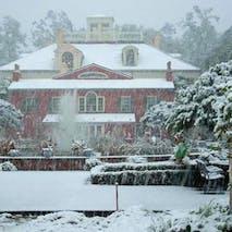 Original 1770's House in Snow
