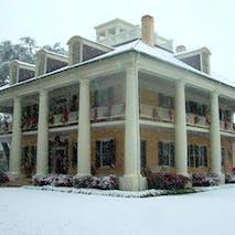 Houmas House in Snow