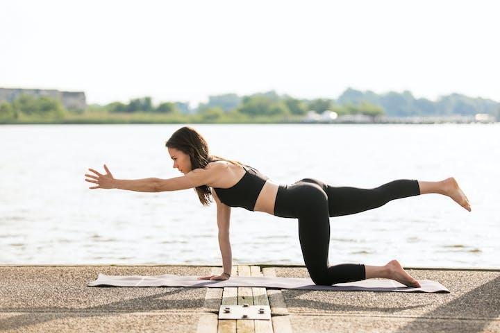 Land based yoga classes at B'More SUP.