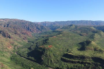 The green hills and valleys of Kauai
