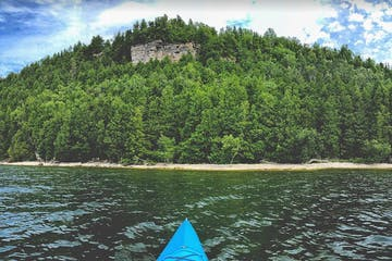 a heavily forested island