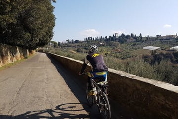 Riding a bike in Florence