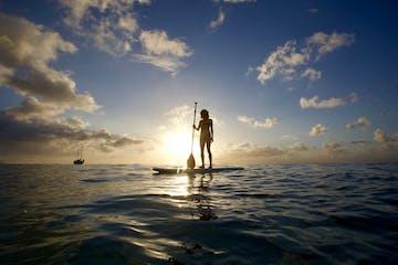 yoga on paddle board