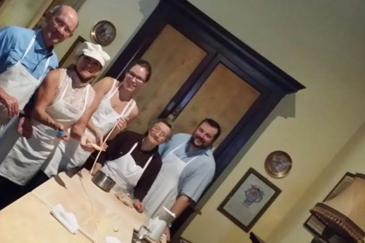 Pasta Making group with Nonna