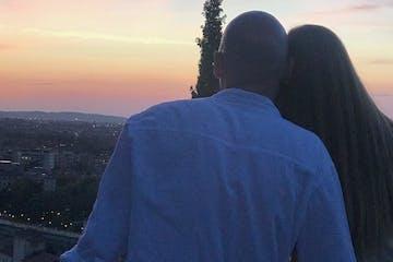 Couple enjoying Sunset in Verona