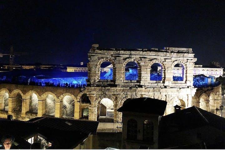 Arena di Verona illuminated at night