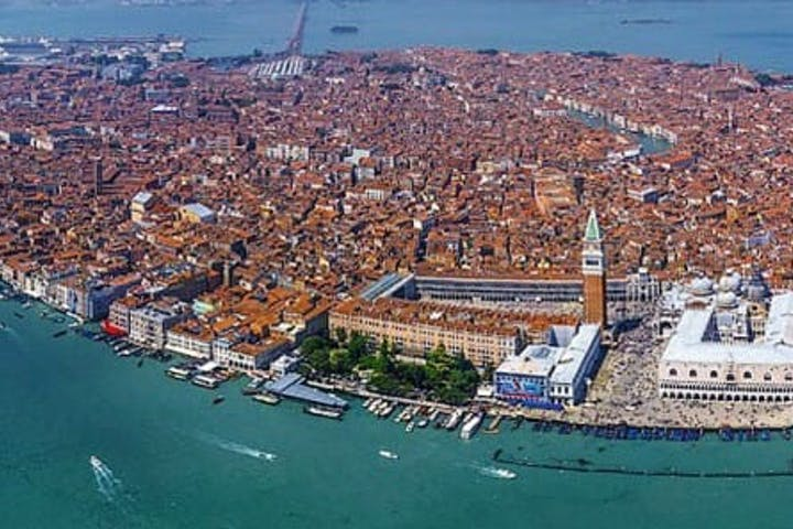 Venice seen from sky