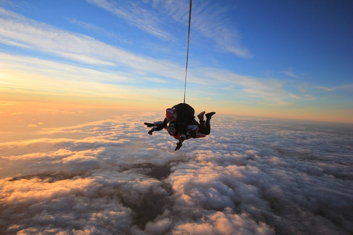 Tandem Skydive on Sunset in Mt Cook New Zealand