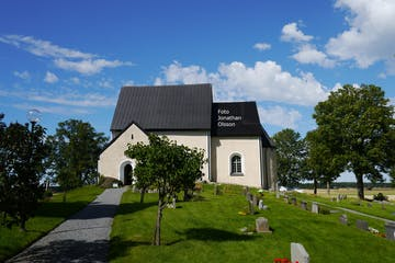 white church Orkesta Sweden Uppland