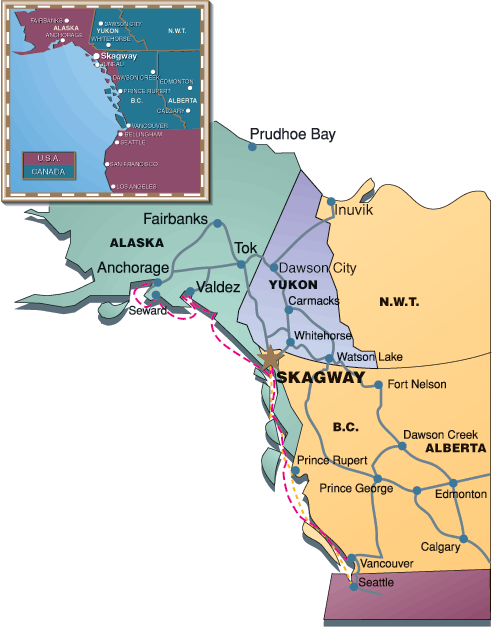 Skagway West Coast Map