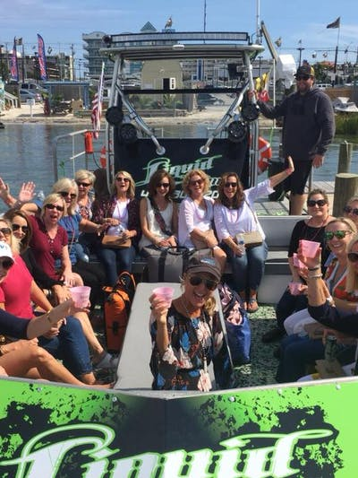 A bachelorette party on a boat