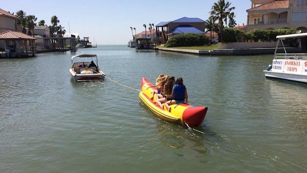 South Padre Island Banana Boat Rides In Laguna Madre Bay